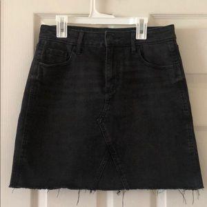 Old Navy Black Jean Skirt